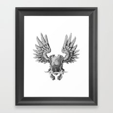 FF14 - Chocobo / materia coat of arms Framed Art Print