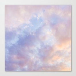 Pink sky / Photo of heavenly sky Canvas Print