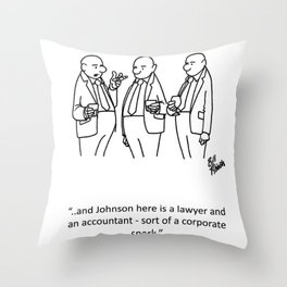 """Corporate Spork"" Throw Pillow"