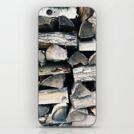 Woodpile II iPhone Skin
