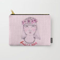 Floral Feminist Bitch Carry-All Pouch