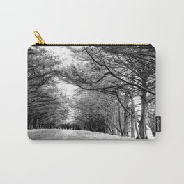 The Black & White Forest Carry-All Pouch