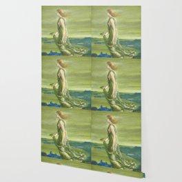 "Sir Edward Coley Burne-Jones ""Evening"" Wallpaper"