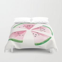 Watermelon quarters Duvet Cover