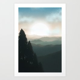 Greener Horizons  Art Print