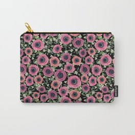 Mistletoe Floral Christmas 2017, New Year 2018 by Magenta Rose Designs Carry-All Pouch