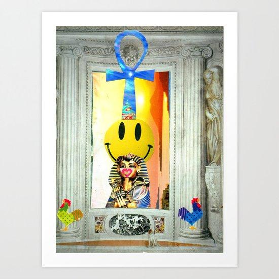 Smiley Rising Art Print