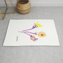 Pablo Picasso Flowers (Fleurs) 1964 Artwork Rug