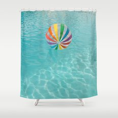 Palm Springs Pool Day Shower Curtain