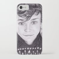 ashton irwin iPhone & iPod Cases featuring portrait of Ashton by teresartwork