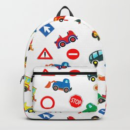 Kid cars, car and machine, tractor Backpack