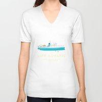 steve zissou V-neck T-shirts featuring The Life Aquatic with Steve Zissou by steeeeee