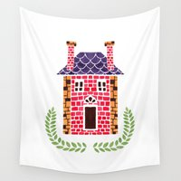 home sweet home Wall Tapestries featuring Home Sweet Home by haidishabrina