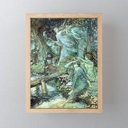 Magical Fairy folk Framed Mini Art Print