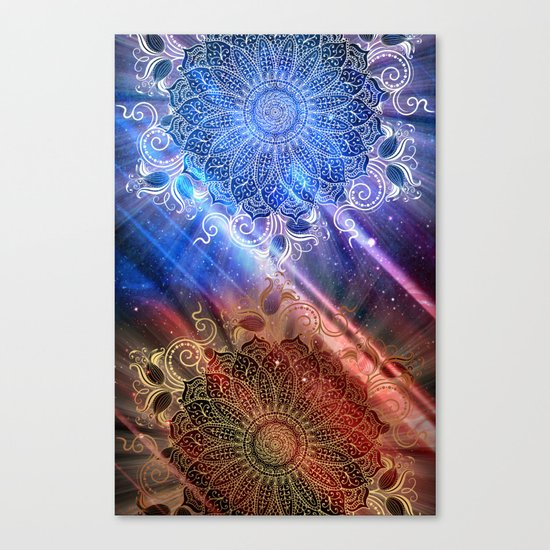 Mandala - Mighty fire & ice Canvas Print