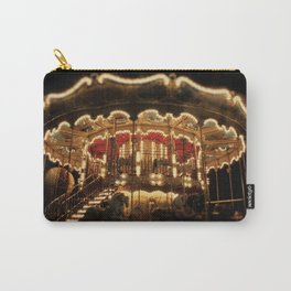 Paris, France Merry-go-round Photography in Stock 8 x 10 Fine Art Photography Vintage Retro Carry-All Pouch