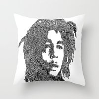 marley Throw Pillows featuring Marley by Travis Poston