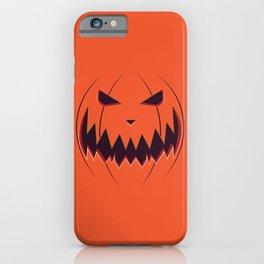 Spooky pumpkin face iPhone Case