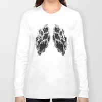 lungs Long Sleeve T-shirts featuring Lungs by Sushibird