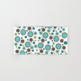 Aqua Circles Hand & Bath Towel