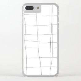 minimalist grid Clear iPhone Case