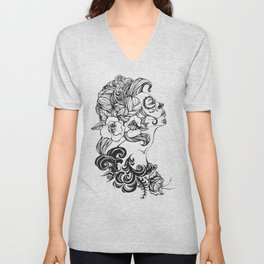 Day of the Dead Russia Unisex V-Neck