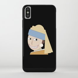 Smiling Girl with a Pearl Earring iPhone Case
