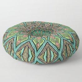 Glitched Mandala  Floor Pillow