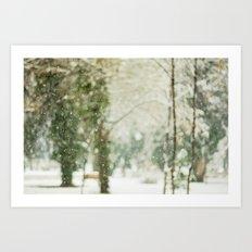 Falling Snow Art Print