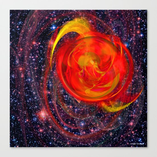 Red Star Burst Canvas Print