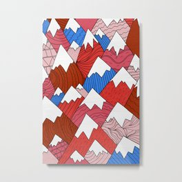 The Red Mountains (Pattern) Metal Print