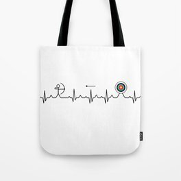 Archery heartbeat Tote Bag