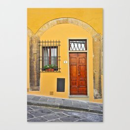 Italian Doorway, House Number 1 Canvas Print