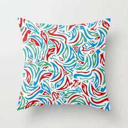 Parts Abstract RGB Throw Pillow