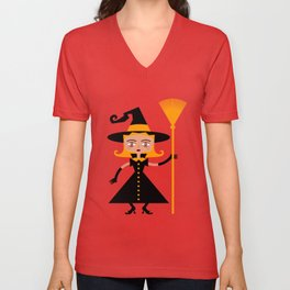 Beware of wicked witch! Unisex V-Neck