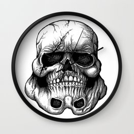 Skulltropper Wall Clock