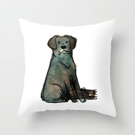 Scotch - Dog Watercolour Painting Throw Pillow