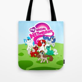 My Social Networks - My Little Pony Parody Tote Bag