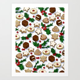 Christmas Treats and Cookies Art Print