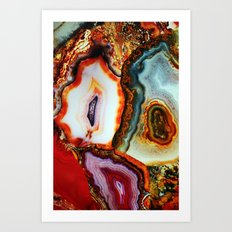 Agate, the Layers of our Earth Art Print