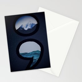 Keep Going Over Mountains and Never Sink Stationery Cards