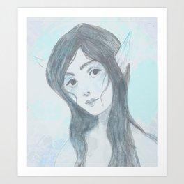 Mermaid (Blue) Art Print