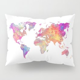 Map of the world #map #world Pillow Sham