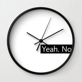Yeah. No.  (with black box) Wall Clock