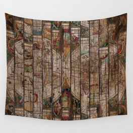 Encrypted Map Wall Tapestry