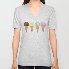 Ice Cream Pattern Unisex V-Neck