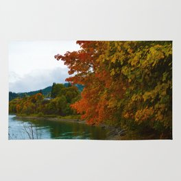 Fall Colours Along the Columbia River in Revelstoke BC Rug