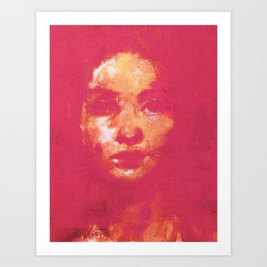 Colorful Woman 3 Art Print
