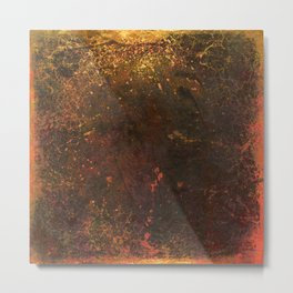 Middle of Earth, Abstract Nature Metal Print