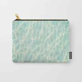 Transparent Clear Water Pattern With Sand Underneath Light Shimmering On Water Carry-All Pouch